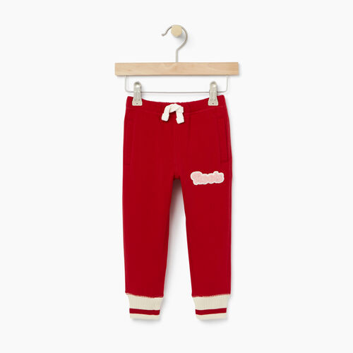 Roots-Kids Bottoms-Toddler Cabin Sweatpant-Cabin Red-A