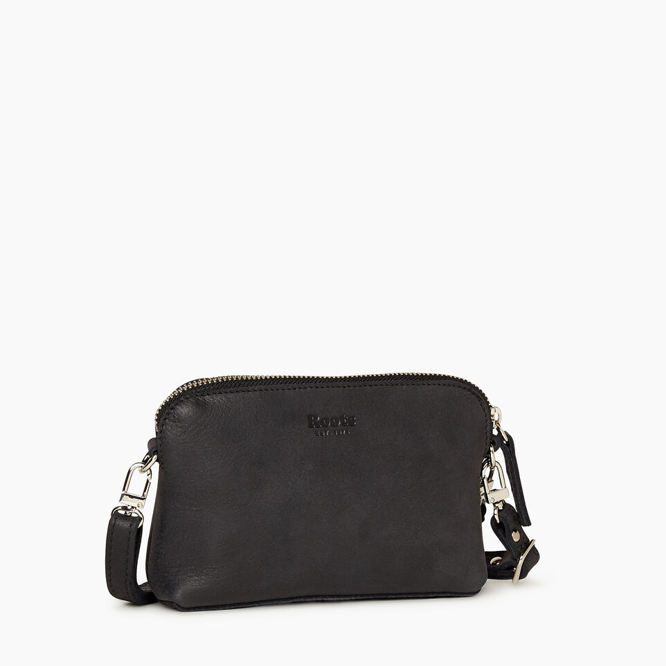 Roots-Leather New Arrivals-Christie Crossbody Tribe-Jet Black-A