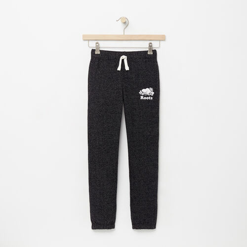Roots-Clearance Kids-Girls Original Roots Sweatpant-Black Pepper-A
