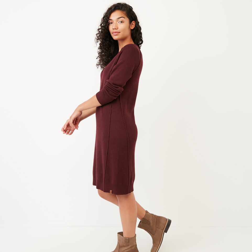 Roots-Women Clothing-Kemano Sweater Dress-Crimson-C