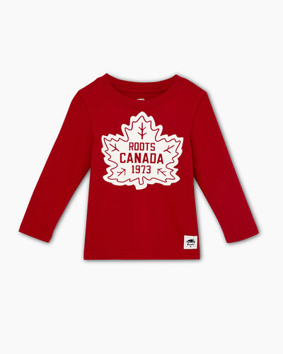 Roots-Sale Toddler-Toddler Canada T-shirt-Sage Red-A