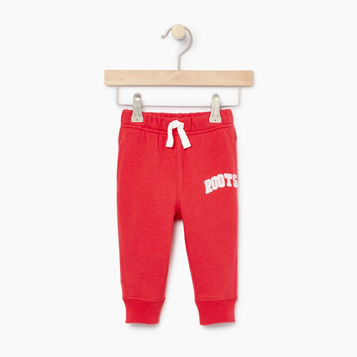 Roots-Clearance Kids-Baby Roots Varsity Sweatpant-Chrysanthemum-A