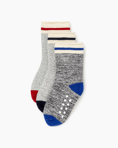 Roots-Sale Toddler-Toddler Cabin Roll Sock 3 Pack-Blue Mix-A