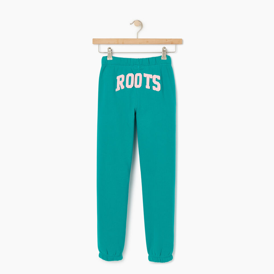 Roots-Kids New Arrivals-Girls Original Roots Sweatpant-Dynasty Turquoise-B