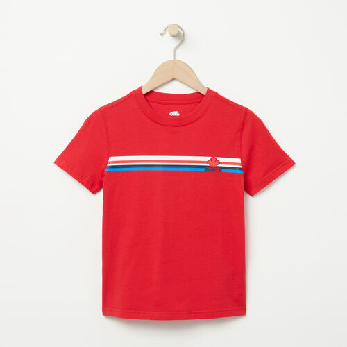 Roots-Kids T-shirts-Boys All Star T-shirt-Racing Red-A