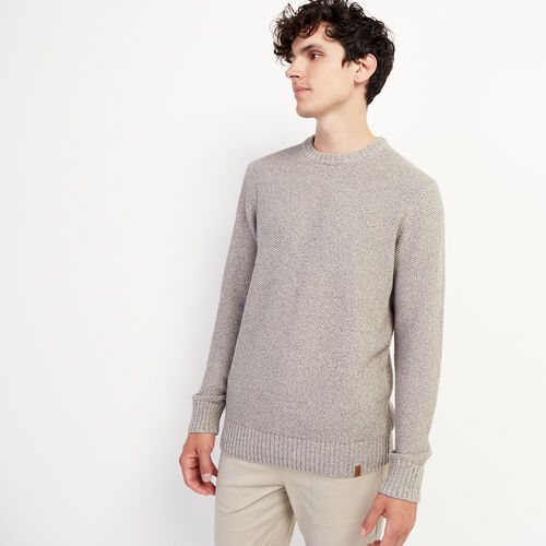 Roots-Men New Arrivals-Canoe Lake Crew Sweater-Grey Mix-A
