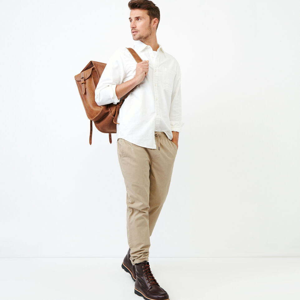 Roots-Men Our Favourite New Arrivals-Napanee Oxford Shirt-Ivory-B