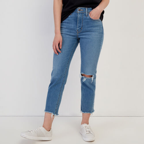 Roots-Women Our Favourite New Arrivals-Levi's 724 Hi rise Straight Crop Jean-Med Denim Blue-A
