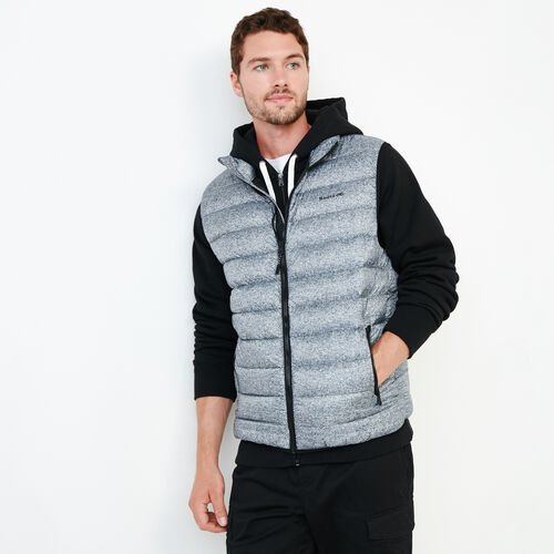 Roots-New For October Packable Jackets-Roots Packable Down Vest-Salt & Pepper-A