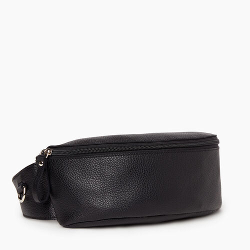 Roots-Women Leather-Large Belt Bag Cervino-Black-A