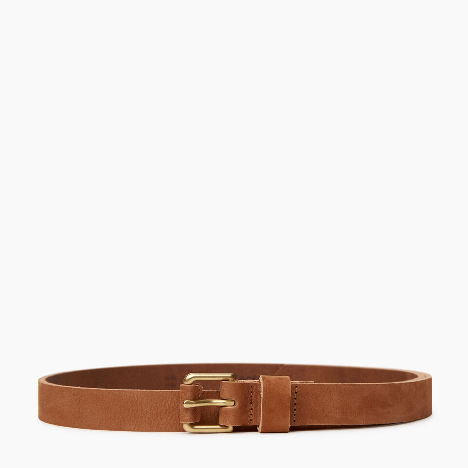 Roots-Women Categories-Roots Womens Leather Roller Belt-Tan-A