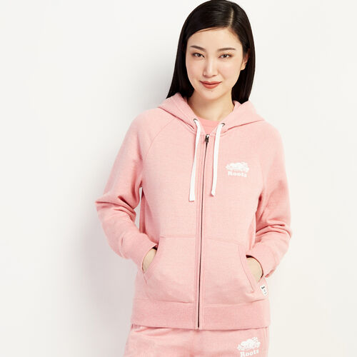Roots-Sweats Women-Original Full Zip Hoody-Sunset Apricot Ppr-A