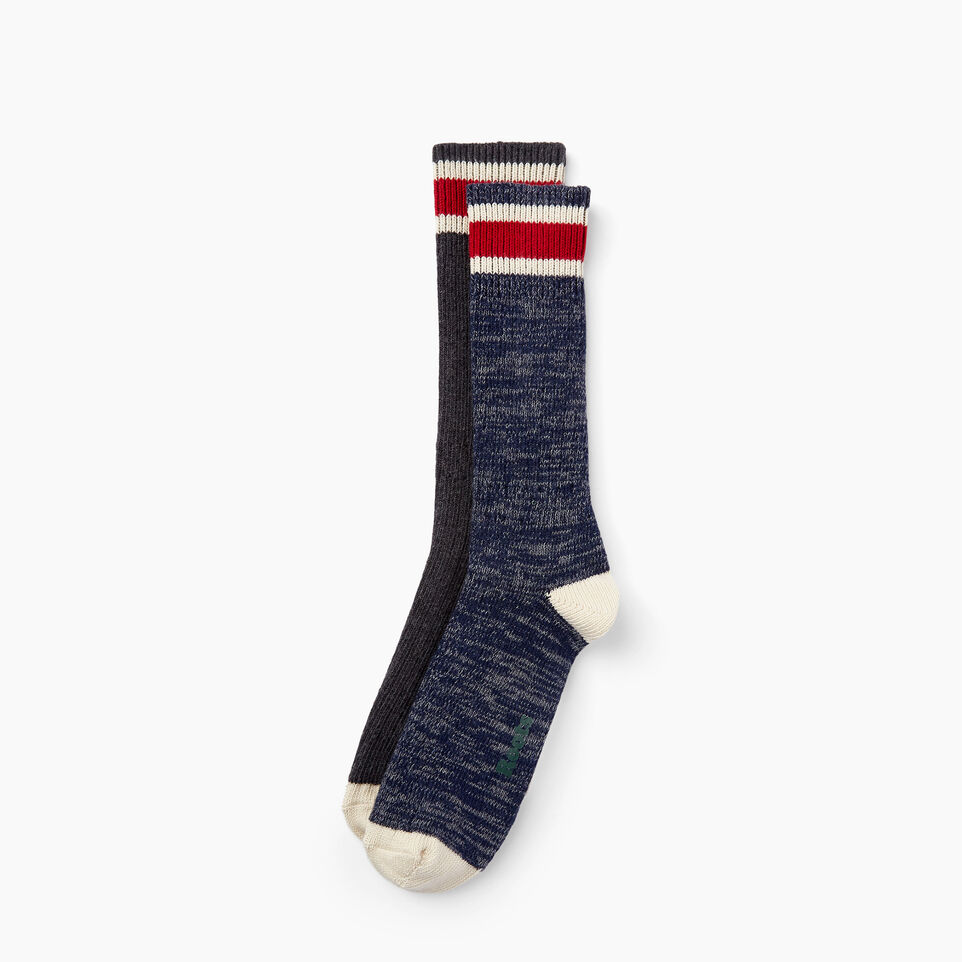 Roots-undefined-Mens Hockey Stripe Sock 2 Pack-undefined-A
