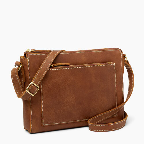 Roots-Leather  Handcrafted By Us Collections-Robson Bag-Natural-A
