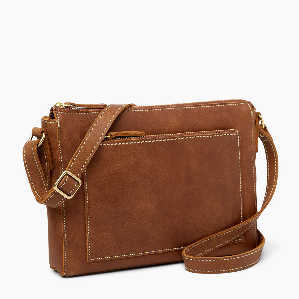 Roots-Leather  Handcrafted By Us Handbags-Robson Bag-Natural-A
