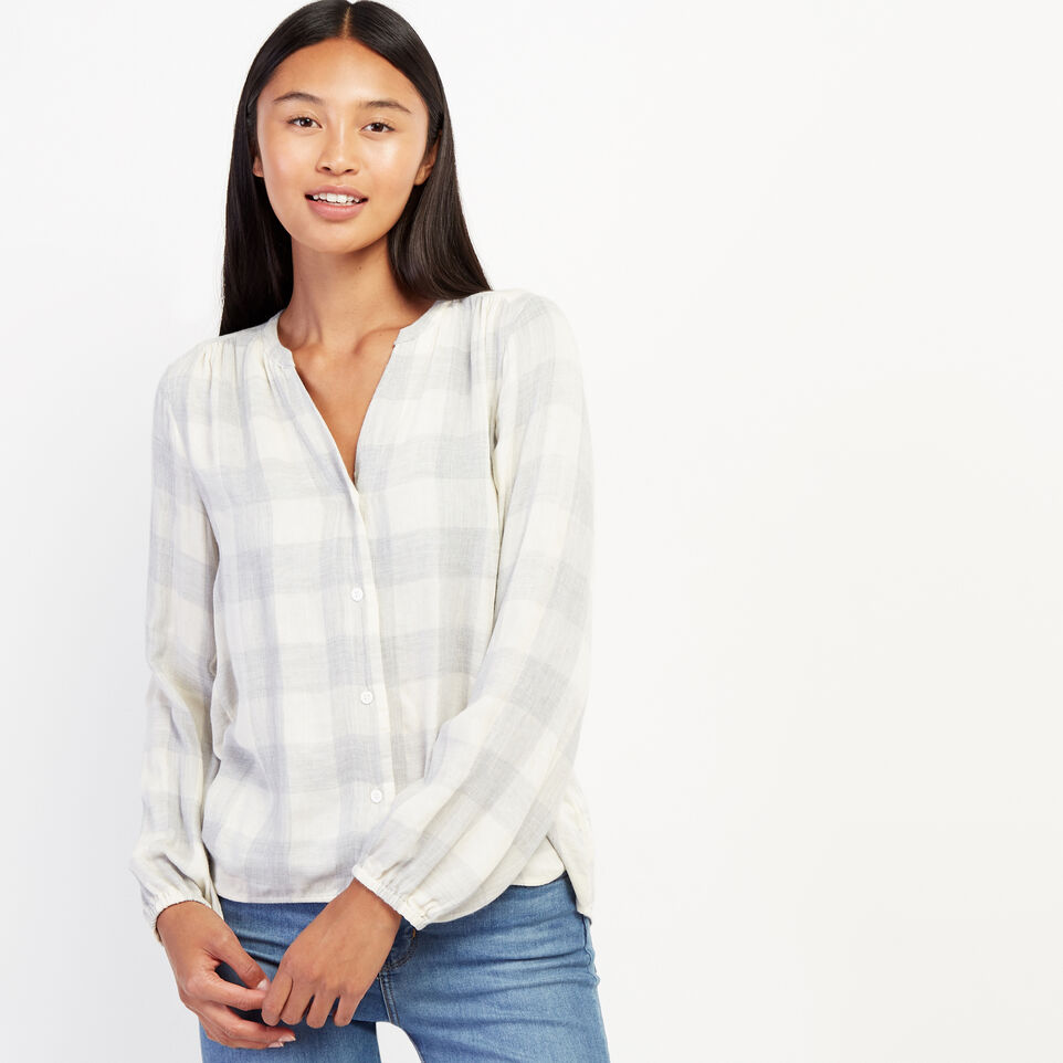 Roots-undefined-Park Plaid Peasant Top-undefined-A