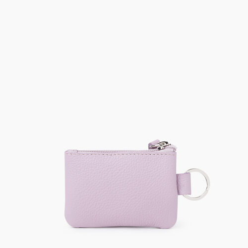 Roots-Leather Leather Accessories-Top Zip Pouch Cervino-Mauve-A