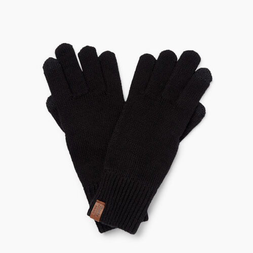 Roots-Clearance Women-Dorval Texting Glove-Black-A