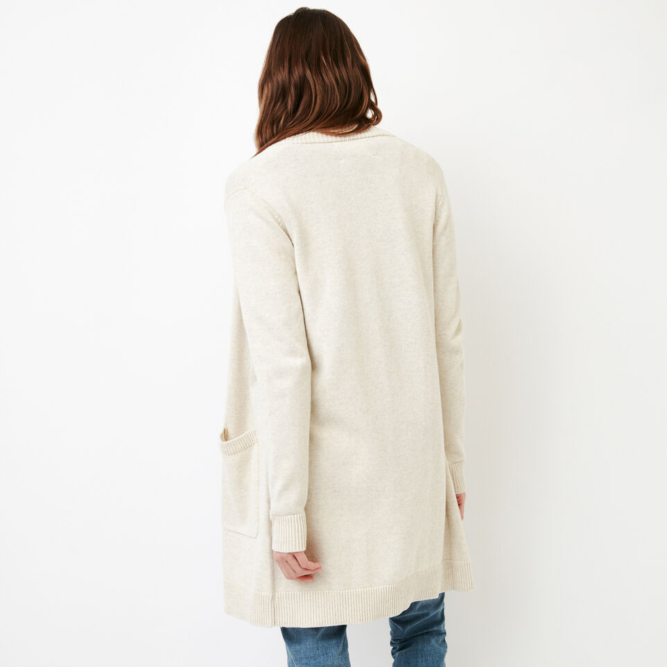 Roots-Women Our Favourite New Arrivals-Ekwan Open Cardigan-Light Oatmeal Mix-D