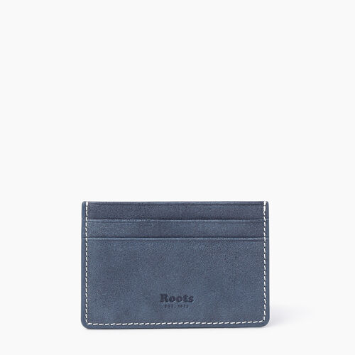 Roots-Leather New Arrivals-Card Holder Tribe-Navy-A