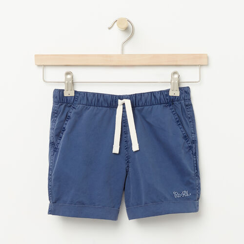 Roots-Sale Girls-Girls Pull On Short-Force Blue-A