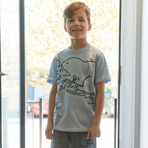 Roots-Kids New Arrivals-Boys Super Cooper T-shirt-Celestial Blue Mix-A