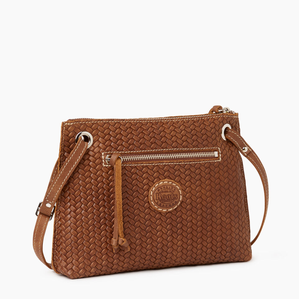 Roots-Leather  Handcrafted By Us Our Favourite New Arrivals-Edie Bag Woven-Natural-C