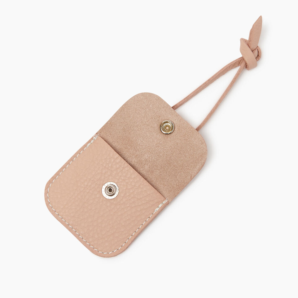 Roots-Leather Leather Accessories-Leather Tie Pouch-Pink Mist-B