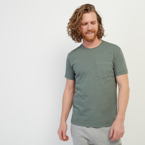 Roots-Men Clothing-Essential Pocket T-shirt-Balsam Green-A
