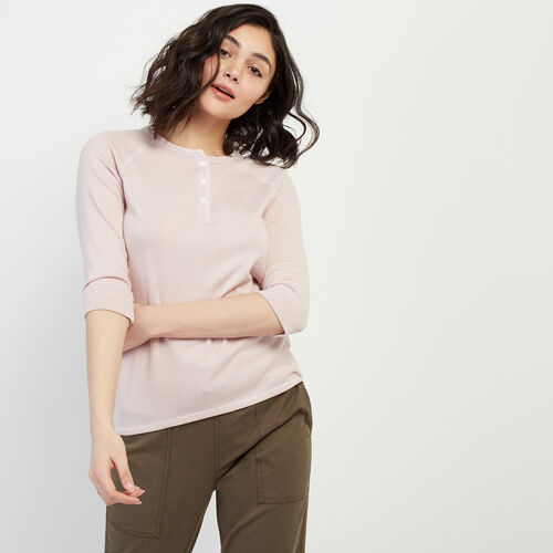 Roots-Women Tops-Fernie Henley Top-Burnished Lilac Ppr-A