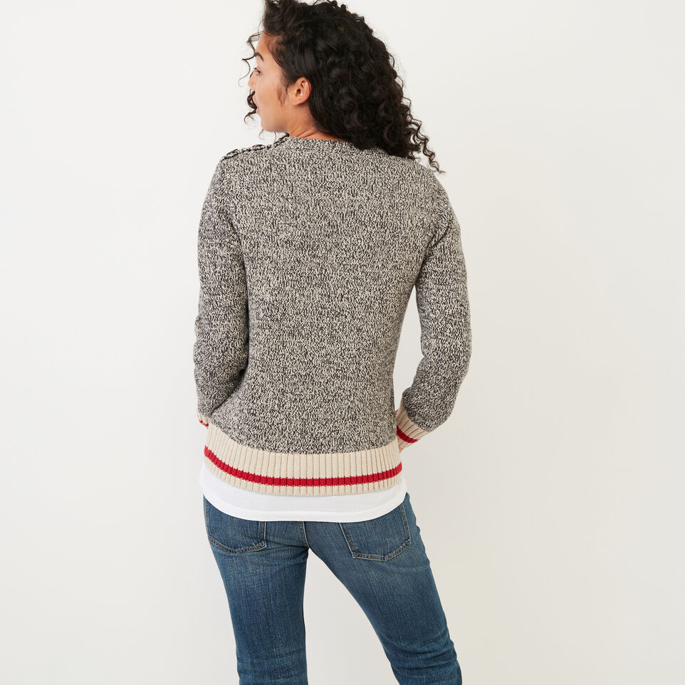 Roots-Women Categories-Roots Cotton Cabin Sweater-Grey Oat Mix-D