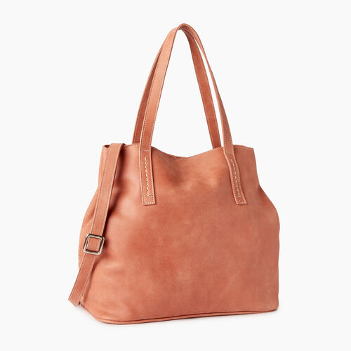 Roots-Leather  Handcrafted By Us Collections-Amelia Tote-Canyon Rose-A
