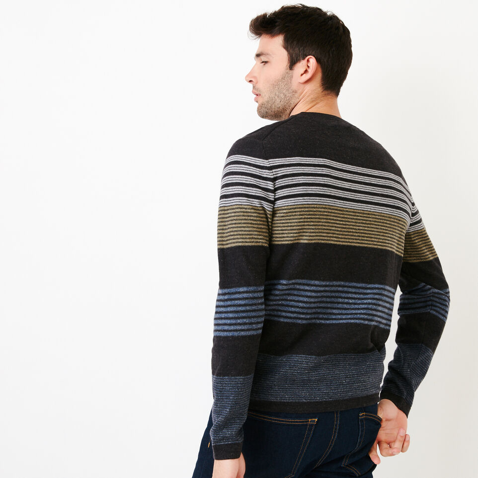 Roots-Men Our Favourite New Arrivals-Canoe Lake Stripe Crew Sweater-Indigo-D