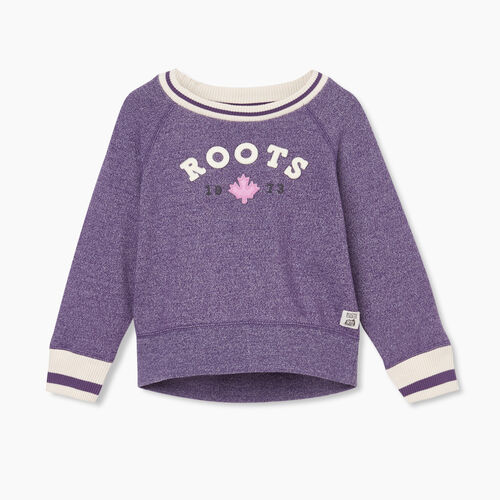 Roots-Sweats Toddler Girls-Toddler Cabin Cozy Crew Sweatshirt-Loganberry Pepper-A