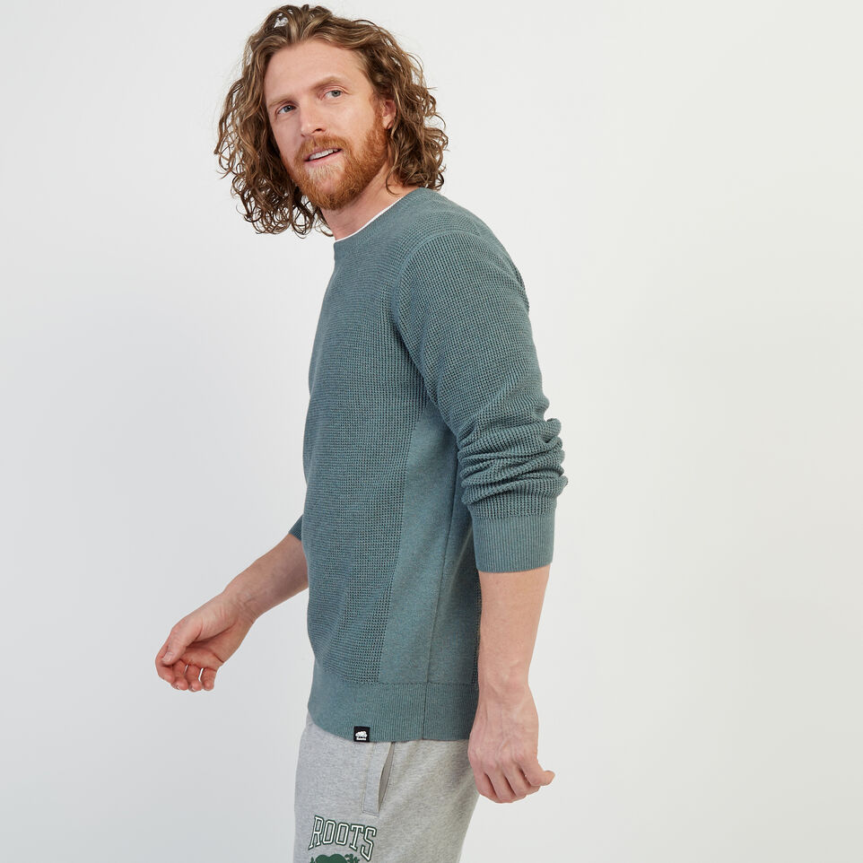 Roots-New For February Journey Collection-Journey Sweater Crew-North Atlantic Mix-C