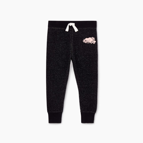 Roots-Kids Toddler Girls-Toddler Cozy Fleece Sweatpant-Black Pepper-A