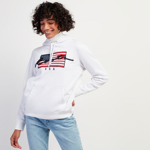 Roots-Gifts Holiday X Arielle & Leah-Script USA Hoody-Crisp White-A
