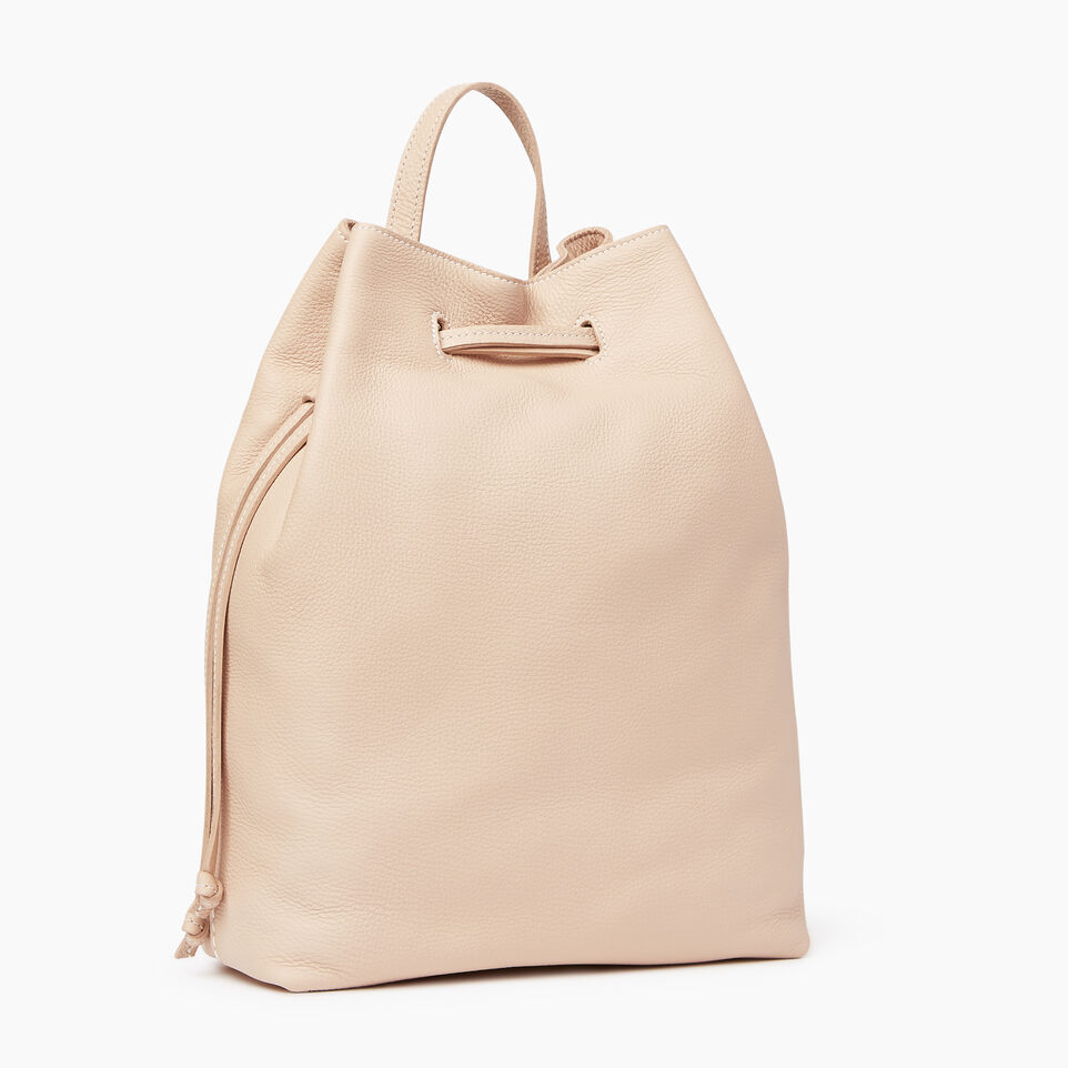 Roots-Leather Our Favourite New Arrivals-Sherbrooke Backpack-Pink Mist-A