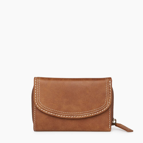 Roots-Women Wallets-Small Canmore Wallet Tribe-Natural-A