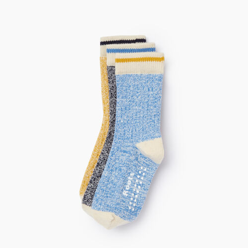 Roots-Clearance Kids-Toddler Cabin Sock 3 Pack-Navy-A