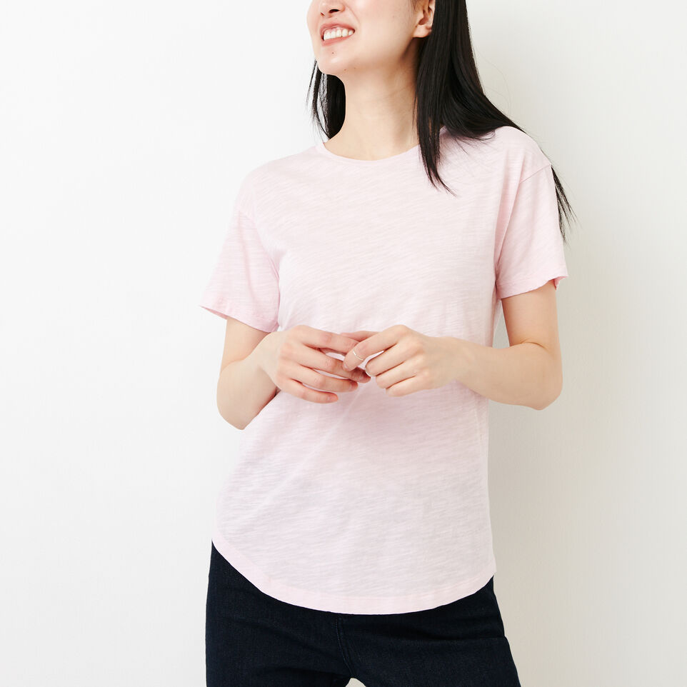 Roots-Women Clothing-Savin Top-Pink Mist-A