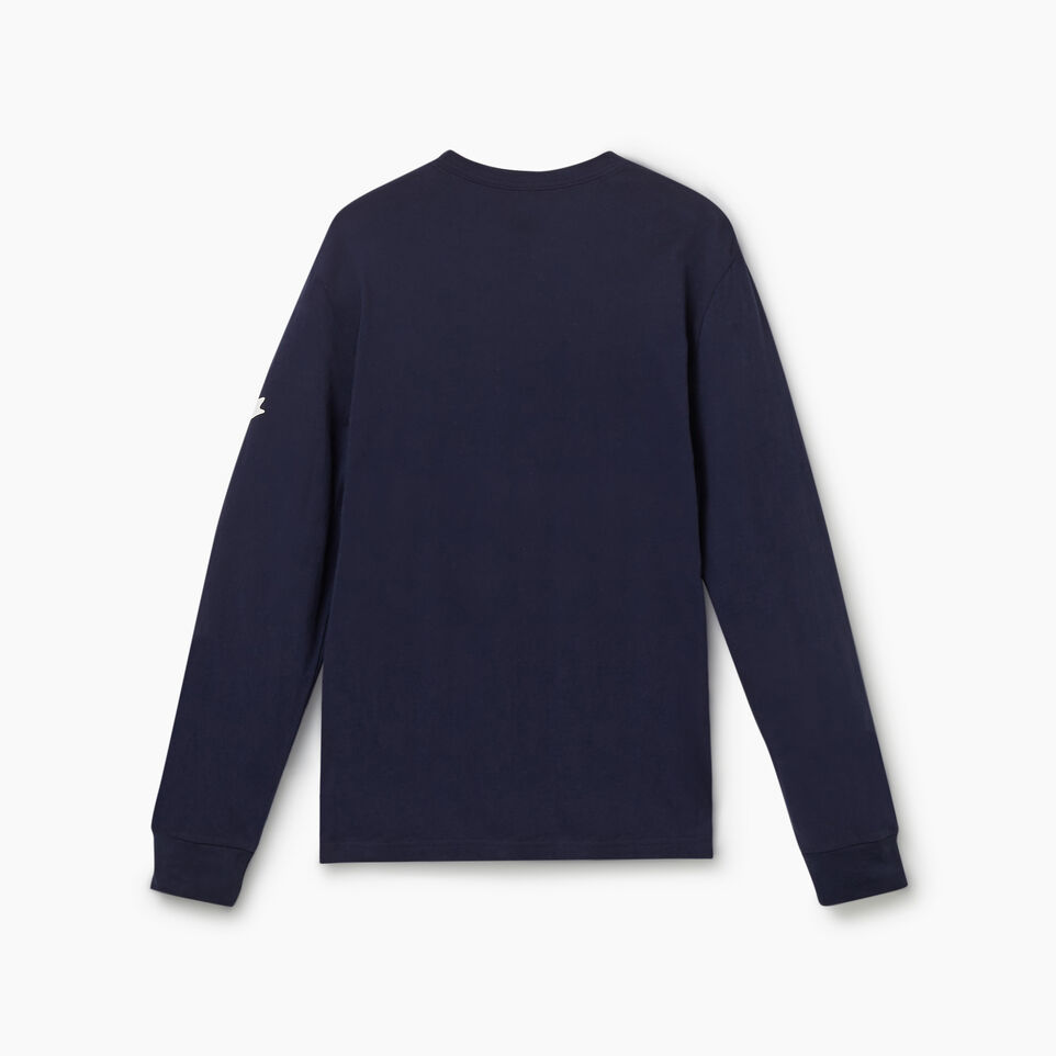Roots-New For July Men-Cooper Canada Long Sleeve T-shirt-Navy Blazer-B