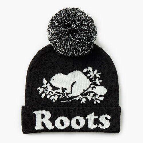 Roots-Gifts Gifts For Kids-Kids Cooper Glow Toque-Black-A