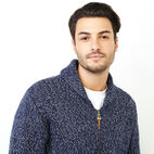 Roots-Men Our Favourite New Arrivals-Snowy Fox Zip Cardigan-Navy Fox-D