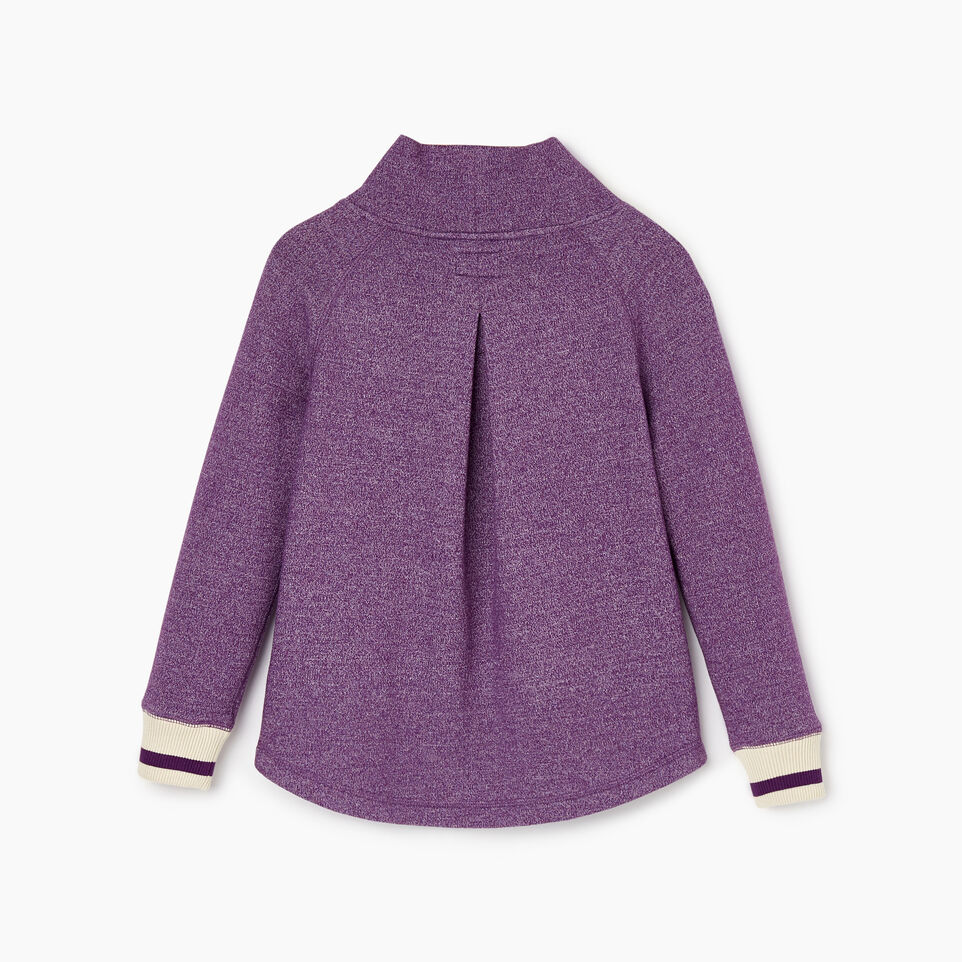 Roots-Kids New Arrivals-Girls Buddy Cozy Fleece Pullover-Grape Royale Pepper-B