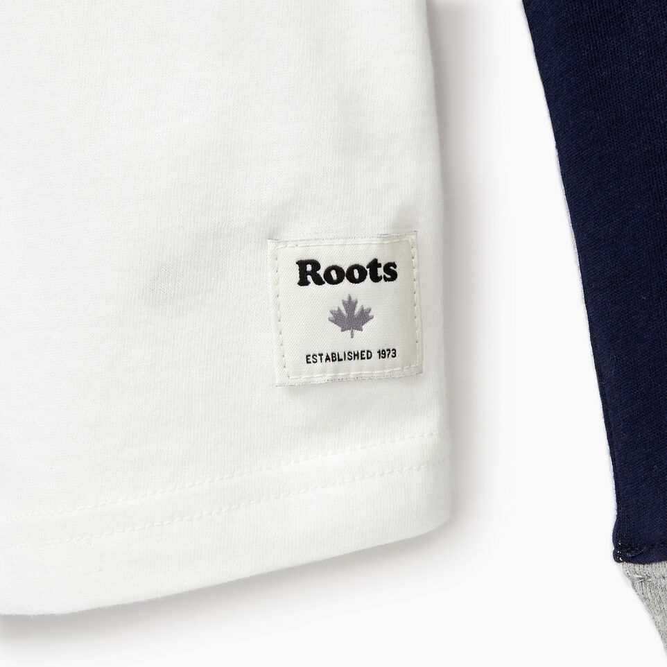 Roots-Kids New Arrivals-Boys Cooper Beaver Raglan T-shirt-Navy Blazer-D