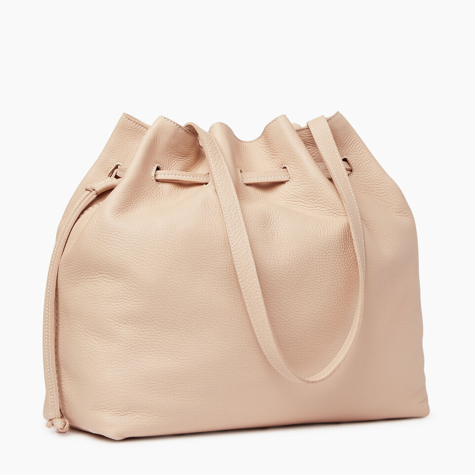 Roots-Leather Our Favourite New Arrivals-Sherbrooke Tote-Pink Mist-C