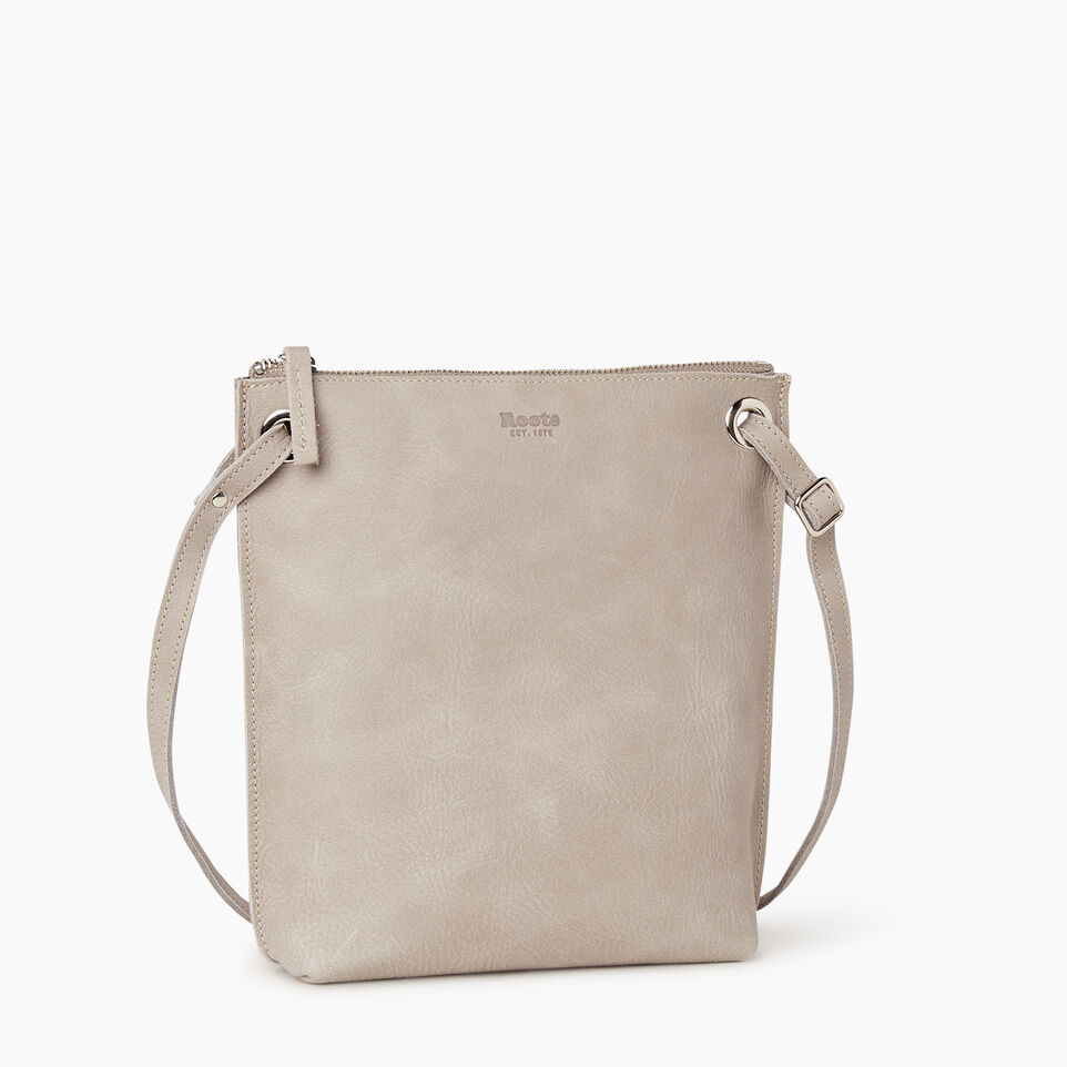 Roots-Leather  Handcrafted By Us Handbags-Festival Bag-Sterling Grey-A