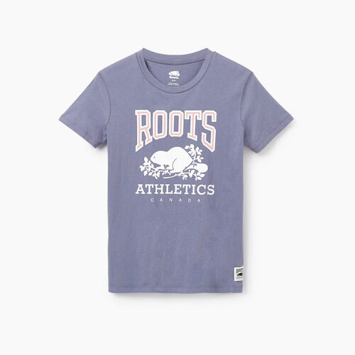 Roots-New For February Rba Collection-Womens RBA T-shirt-Purple-A