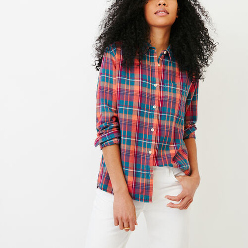 Roots-Clearance Last Chance-All Seasons Relaxed Shirt-Spiced Coral-A